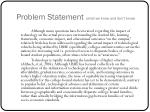 problem statement what we know and don t know