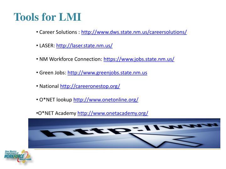 Tools for LMI