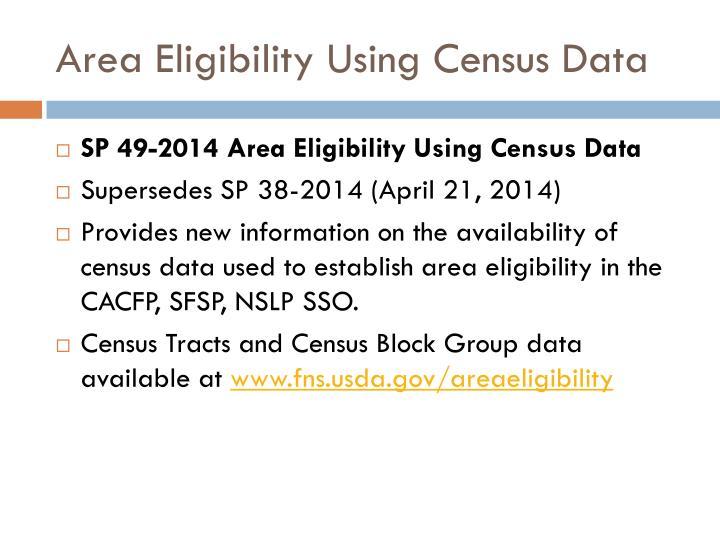 Area Eligibility Using Census Data