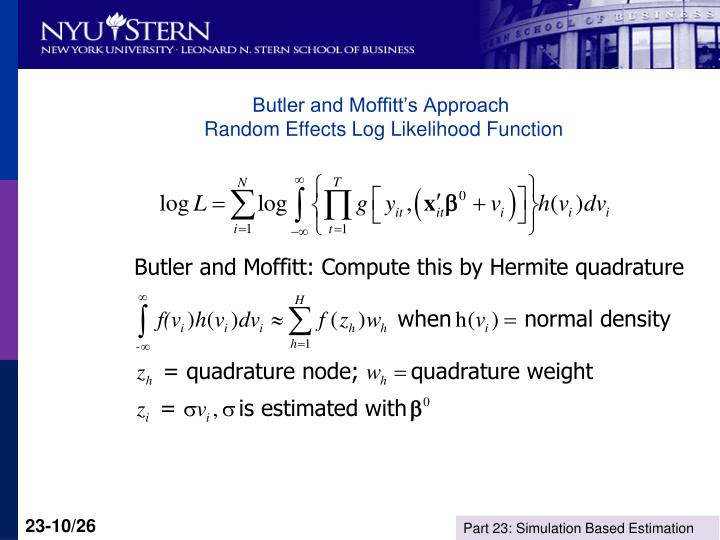 Butler and Moffitt's Approach
