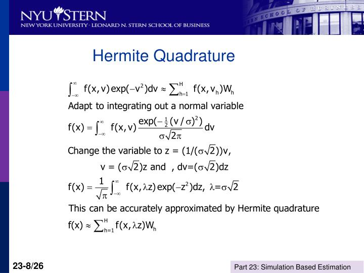 Hermite Quadrature