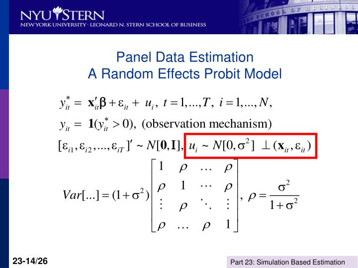 Panel Data Estimation