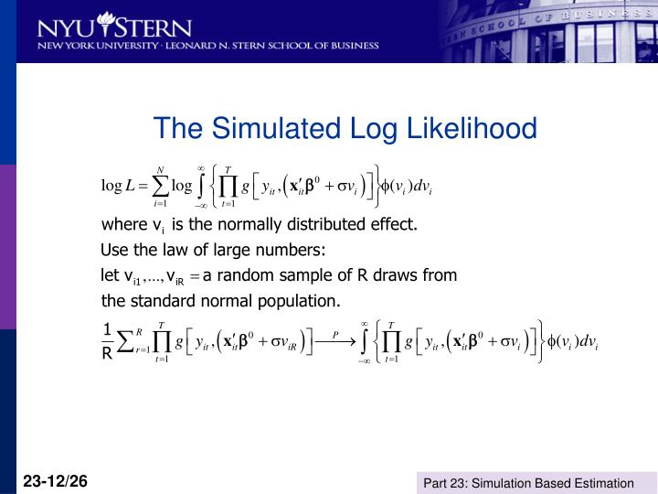 The Simulated Log Likelihood