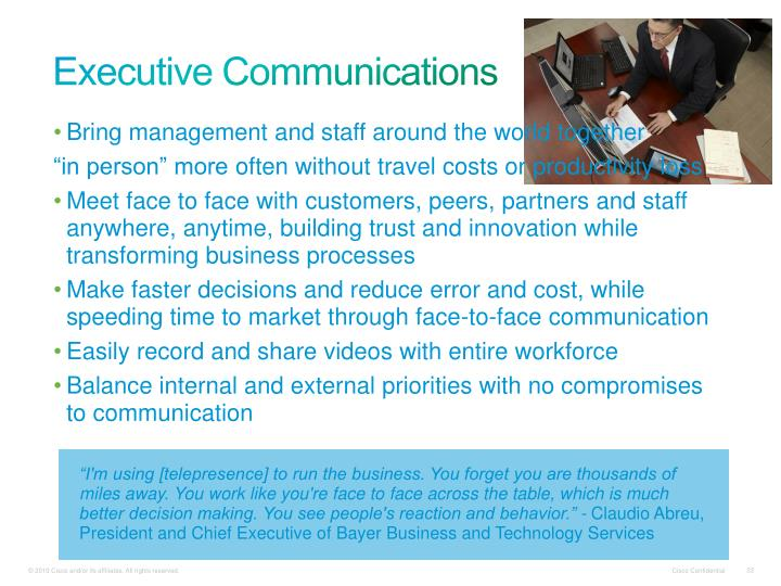 Executive Communications