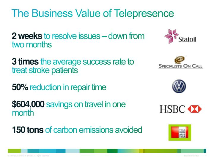 The Business Value of Telepresence