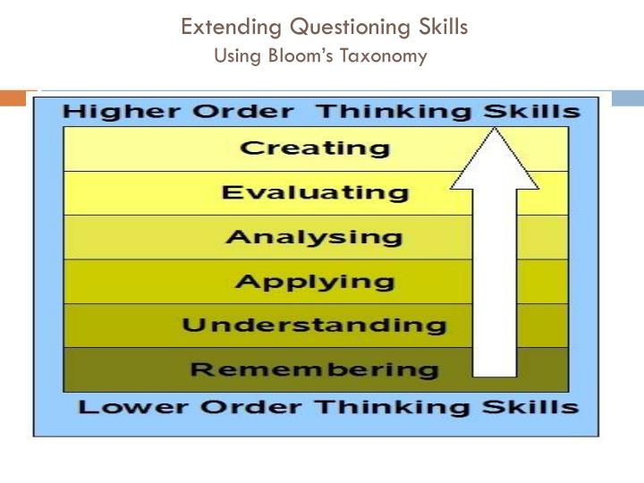 Extending Questioning Skills