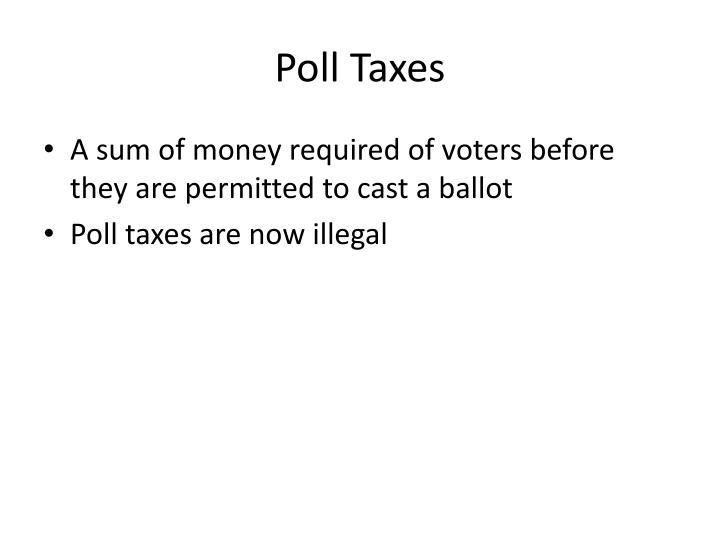 Poll Taxes