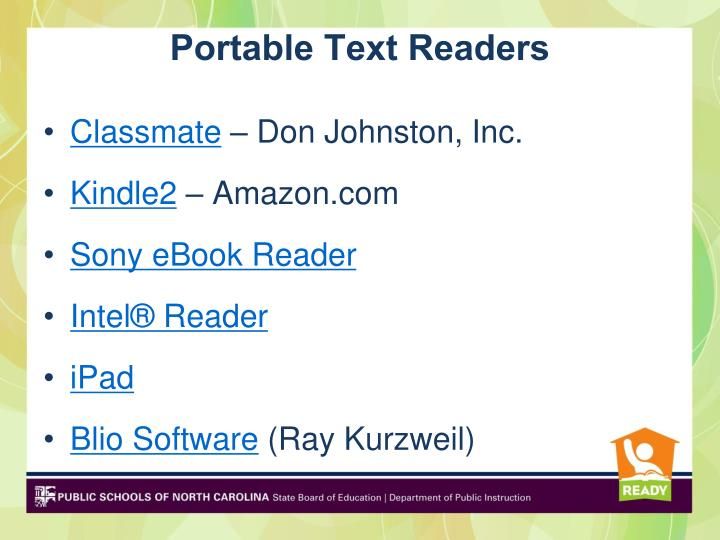 Portable Text Readers