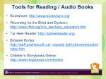 tools for reading audio books