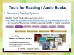 tools for reading audio books1