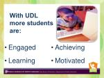 with udl more students are