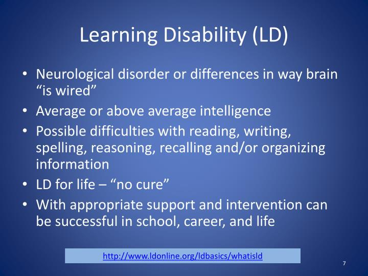 Learning Disability (LD)