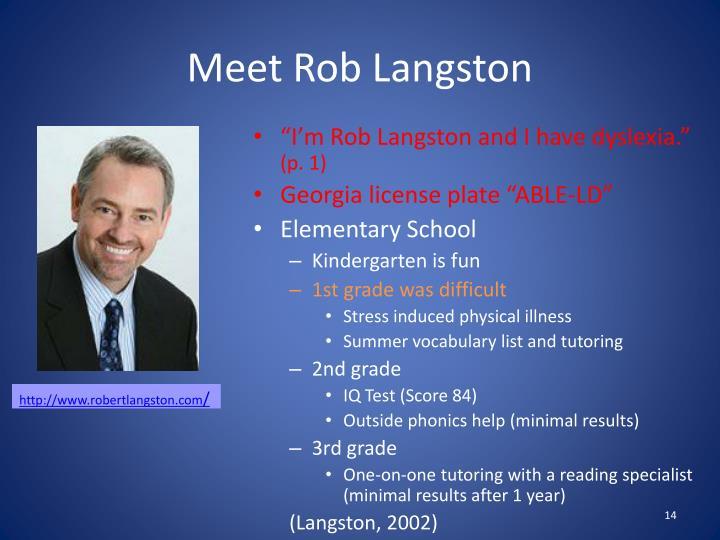 Meet Rob Langston