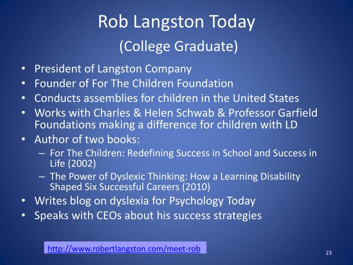 Rob Langston Today