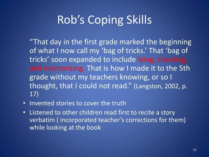 Rob's Coping Skills