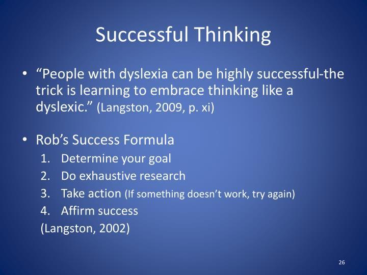 Successful Thinking