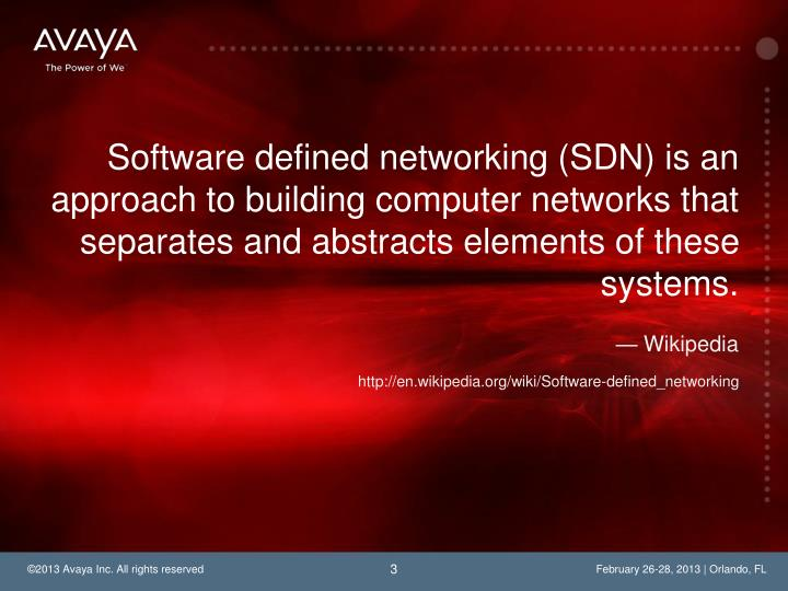 Software defined networking (SDN) is an approach to building computer networks that separates and ab...