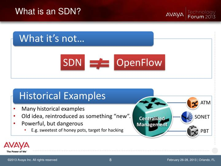 What is an SDN?