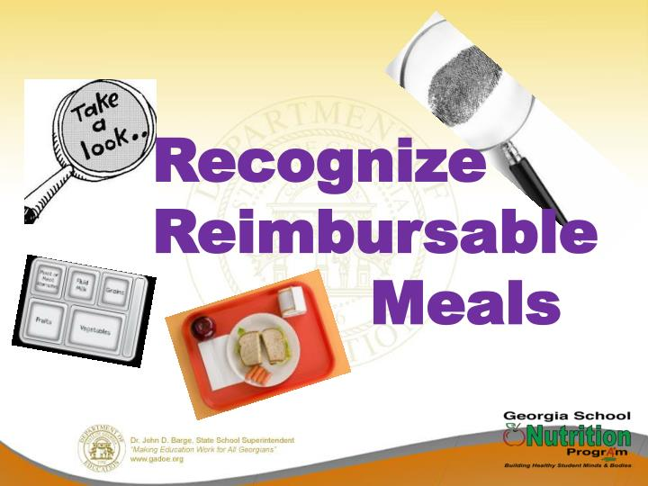 Recognize Reimbursable