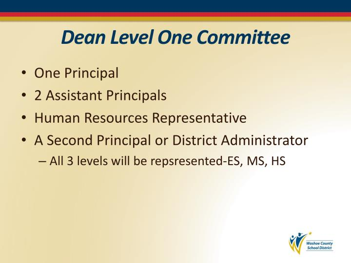 Dean Level One Committee