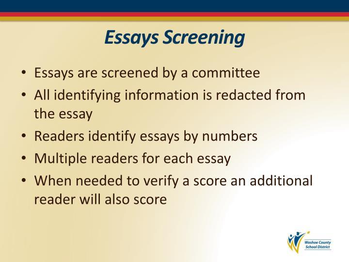 Essays Screening