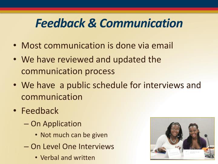 Feedback & Communication