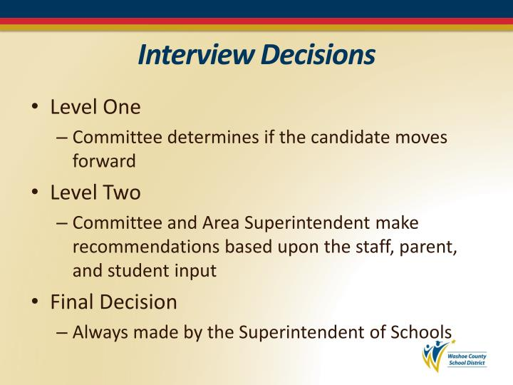 Interview Decisions