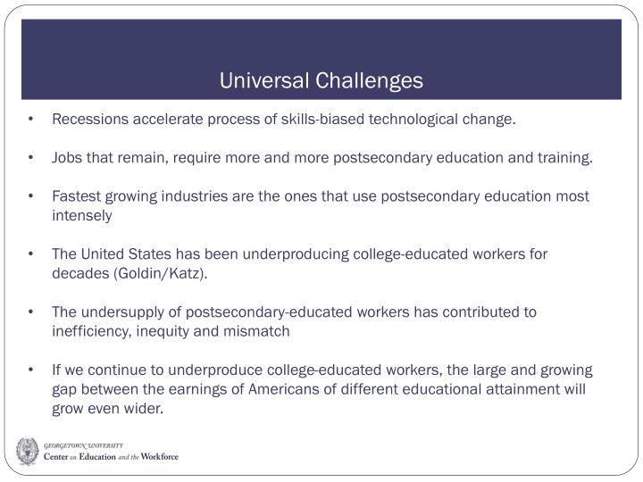 Universal challenges