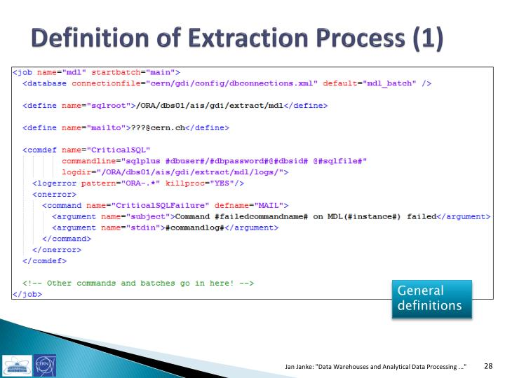 Definition of Extraction Process (1)