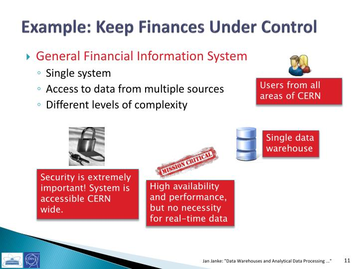 Example: Keep Finances Under Control