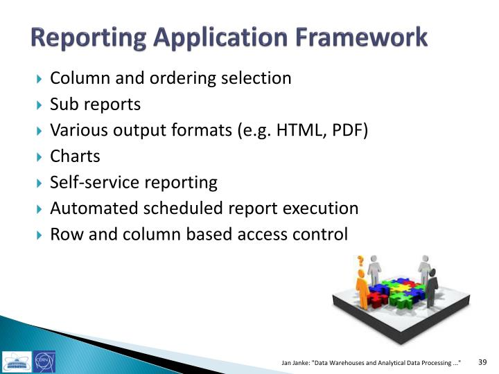 Reporting Application Framework