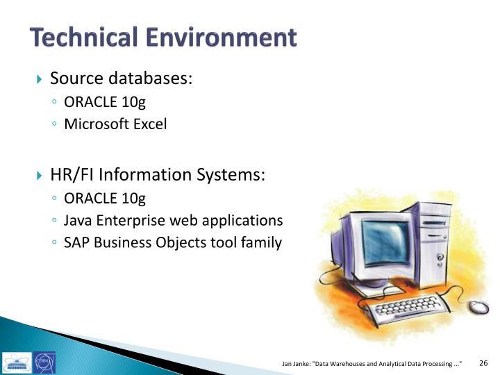 Technical Environment