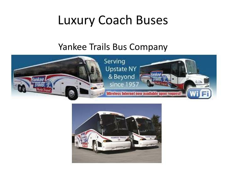 Luxury coach buses