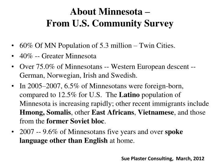 About Minnesota –