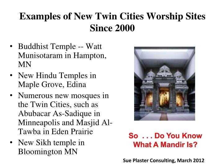 Examples of New Twin Cities Worship Sites Since 2000