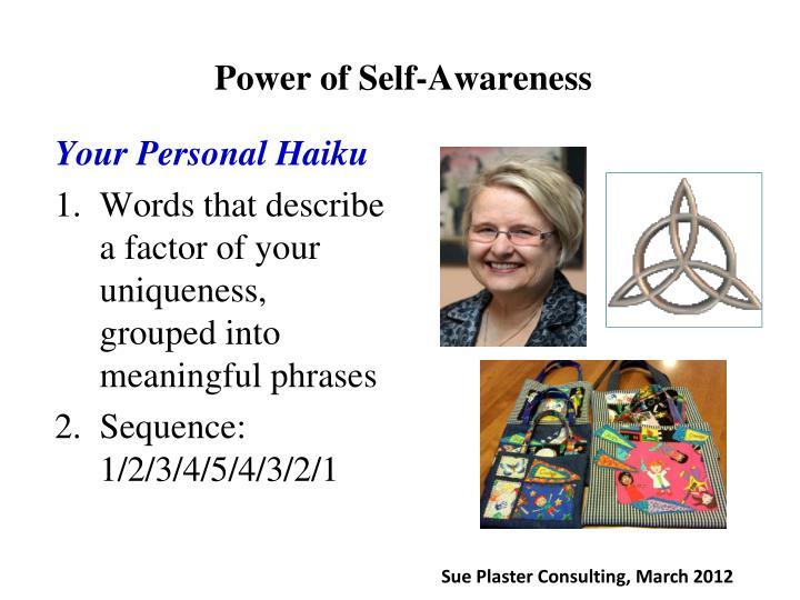Power of Self-Awareness