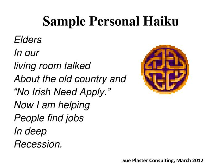 Sample Personal Haiku
