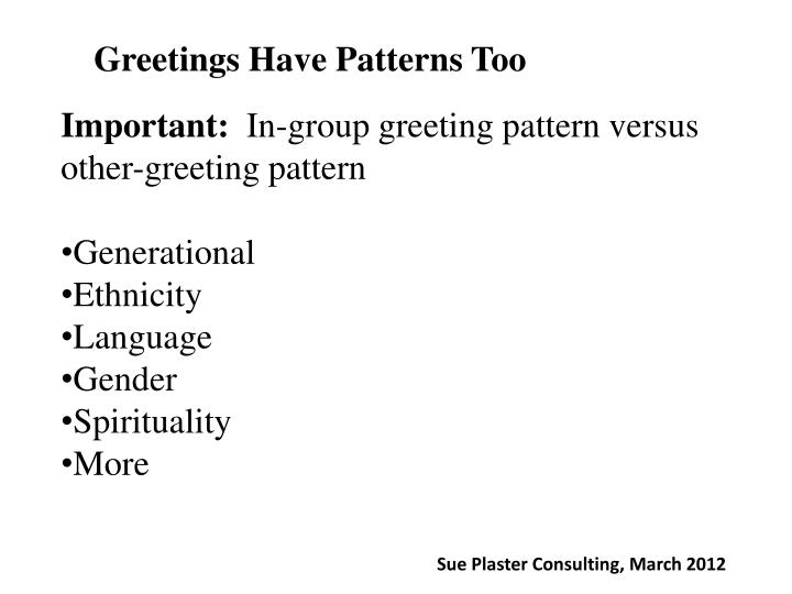 Greetings Have Patterns Too