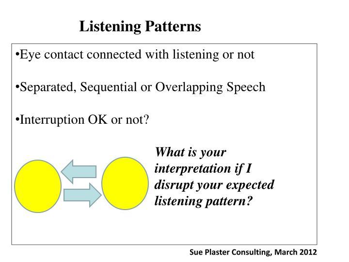 Listening Patterns
