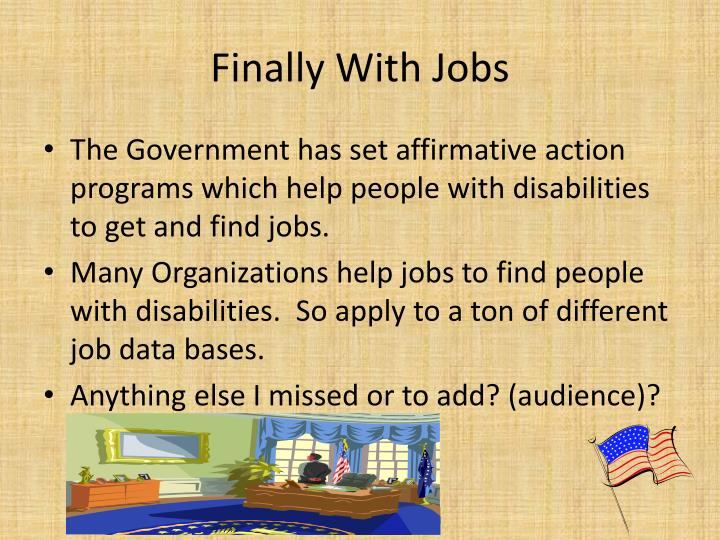 Finally With Jobs