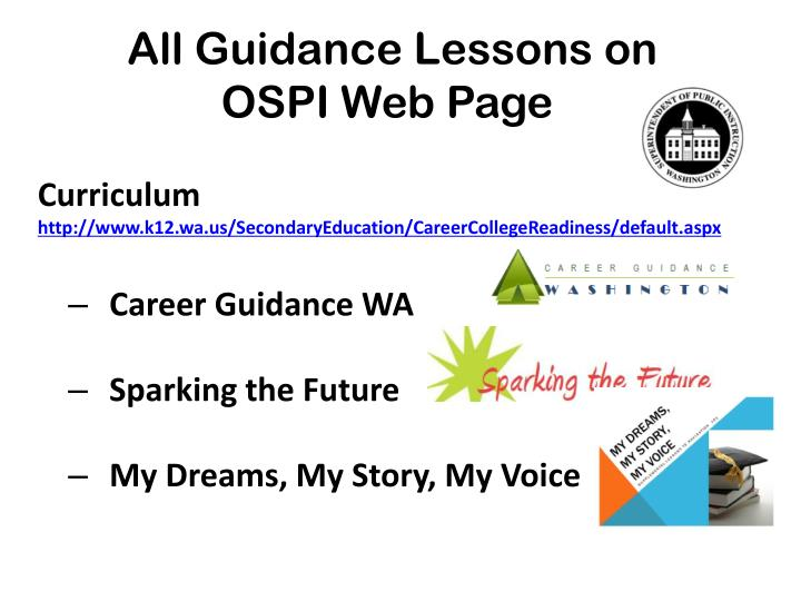 All Guidance Lessons on
