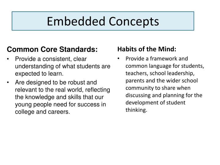 Embedded Concepts