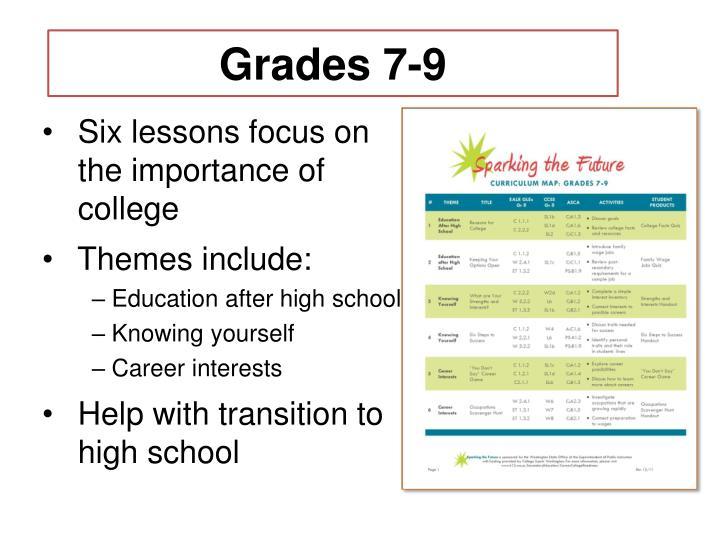 Grades 7-9