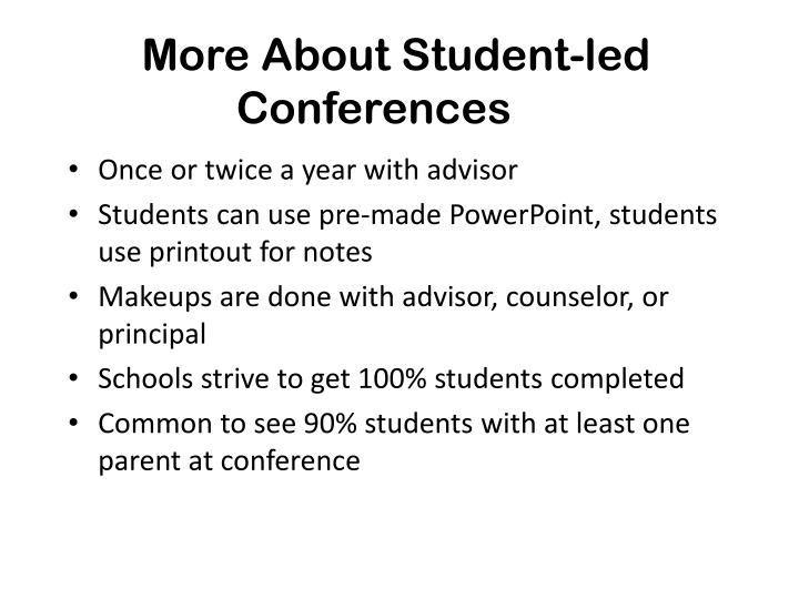 More About Student-led