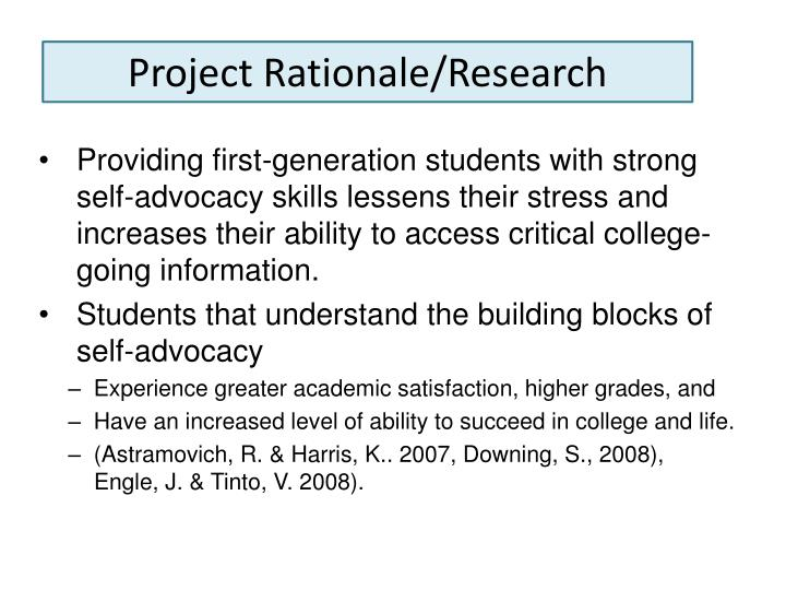 Project Rationale/Research