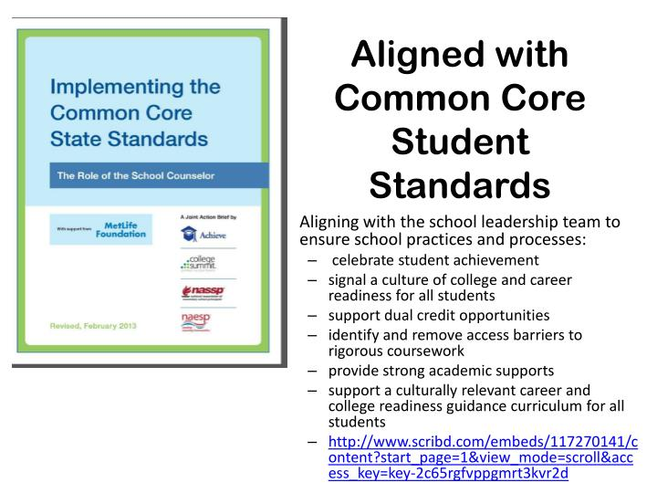 Aligned with Common Core Student Standards