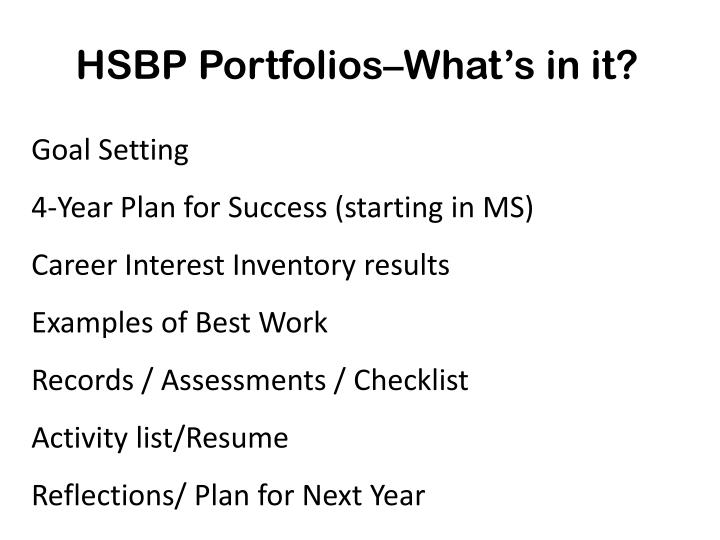 HSBP Portfolios–What's in it?