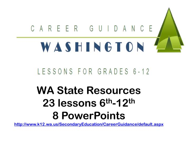 WA State Resources