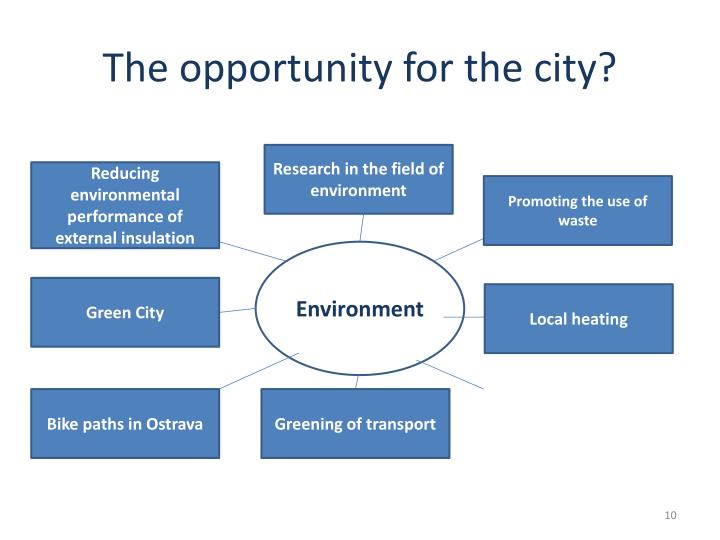 The opportunity for the city?