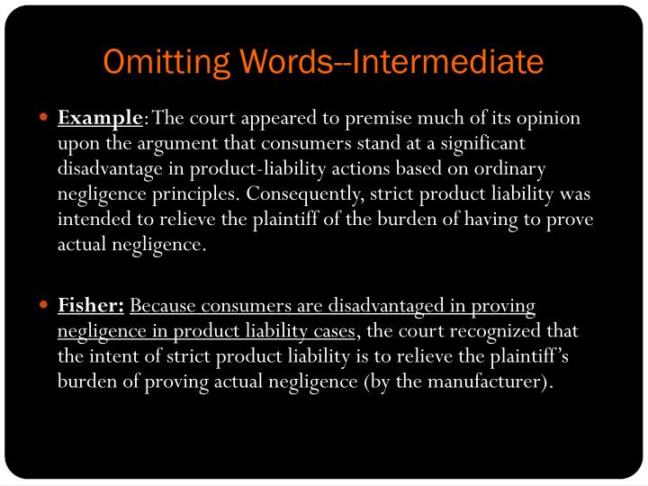 Omitting Words--Intermediate